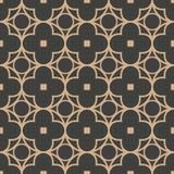 För modellbakgrund för vektor linje för ram för blomma för damast sömlös retro kurva för runda arg Elegant lyxig brun signaldesig vektor illustrationer