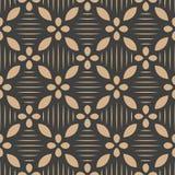 För modellbakgrund för vektor linje för ram för damast sömlös retro kurva arg blomma Elegant lyxig brun signaldesign för tapeter, vektor illustrationer
