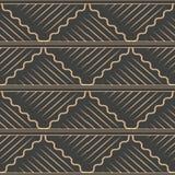 För modellbakgrund för vektor linje för ram för damast sömlös retro spiral våg för kurva arg Elegant lyxig brun signaldesign för stock illustrationer