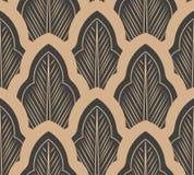 För modellbakgrund för vektor linje för ram för damast sömlöst retro blad för kurva argt abstrakt Elegant lyxig brun signaldesign stock illustrationer