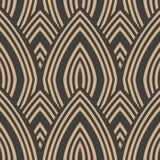 För modellbakgrund för vektor linje för ram för geometri för damast sömlös retro kurva arg Elegant lyxig brun signaldesign för ta stock illustrationer