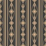 För modellbakgrund för vektor linje för ram för kontroll för diamant för geometri för damast sömlös retro kurva oval arg Elegant  stock illustrationer