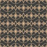 För modellbakgrund för vektor linje för ram för kontroll för diamant för geometri för damast sömlös retro kurva oval arg Elegant  vektor illustrationer