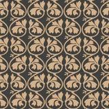 För modellbakgrund för vektor ram för vinranka för blad för damast sömlös retro kurva för botanisk trädgård spiral arg Elegant ly royaltyfri illustrationer