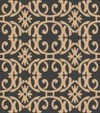 För modellbakgrund för vektor vinranka för blad för blomma för botanisk trädgård för damast sömlöst retro spiralt kors för kurva  royaltyfri illustrationer