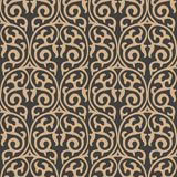 För modellbakgrund för vektor vinranka för ram för växt för damast sömlös retro kurva spiral arg Elegant lyxig brun signaldesign  vektor illustrationer