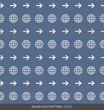 För modellbegrepp för global affär sömlös serie 01 stock illustrationer