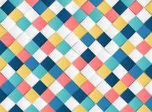 För modelldesign för abstrakt färgrik fyrkant geometrisk bakgrund för garnering för snitt för papper Illustrationvektor eps10 vektor illustrationer