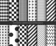 För modelldesign för vektor abstrakt geometrisk sömlös uppsättning Arkivfoton