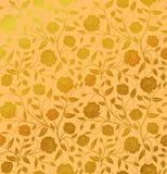 För modelldesign för vektor dragen sömlös blom- hand: Guld- rosor w royaltyfri illustrationer