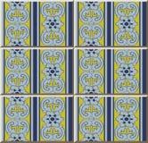 För modellfjäder för keramisk tegelplatta linje för blomma för blad för kors för spiral för kurva royaltyfri illustrationer