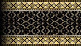 För modellgräns för vektor abstrakt guld- exotisk thailändsk sömlös backgro Arkivbild