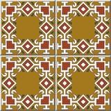 För modellkontroll för keramisk tegelplatta linje för ram för kors för kurva för fyrkant kedja stock illustrationer