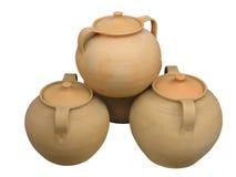 för modellkrukmakeri för lera dekorativ vase Arkivfoton