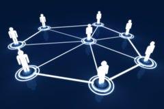 För modellLight Connection Link för människa 3D nätverk organisation royaltyfri illustrationer