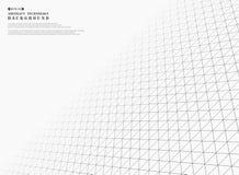 För modellräkning för futuristiska gråa trianglar geometrisk bakgrund stock illustrationer