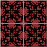 För modellrunda för keramisk tegelplatta hea för crosscheck för geometri för spiral för kurva vektor illustrationer