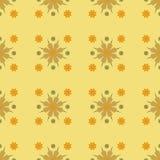 för modellseamles för blomma geometrisk yellow för vektor royaltyfri illustrationer