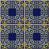 För modellspiral för keramisk tegelplatta flowe för kedja för ram för kors för fyrkant för kurva royaltyfri illustrationer