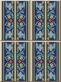 För modellspiral för keramisk tegelplatta fram för blad för fjäder för kors för kurva för virvel royaltyfri illustrationer
