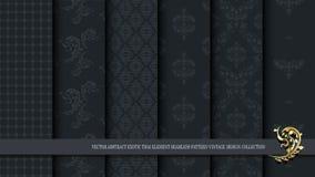 För modelltappning för vektor abstrakt exotisk thailändsk sömlös coll för design Royaltyfri Foto