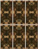 För modelltappning för keramisk tegelplatta flo för arg vinranka för kurva botanisk spiral royaltyfri illustrationer