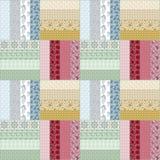För modelltextur för patchwork sömlös blom- bakgrund Royaltyfri Foto