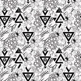 För modelltextur för patchwork sömlös blom- bakgrund för vit Royaltyfri Foto