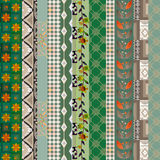 För modelltextur för patchwork vertikal sömlös blom- bakgrund de Arkivfoton