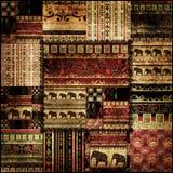 För modelltryck för patchwork afrikansk bakgrund Royaltyfri Bild