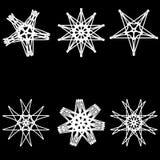För modelluppsättning för astrologi geometrisk pentogramm Royaltyfri Bild