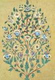 För modellvägg för tappning blom- bakgrund Royaltyfri Foto