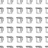 För modellvatten för hand utdraget sömlöst klotter för filter Skissa stilsymbolen Taget i Genua, Italien bakgrund isolerad white  vektor illustrationer