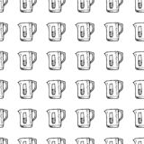 För modellvatten för hand utdraget sömlöst klotter för filter Skissa stilsymbolen Taget i Genua, Italien bakgrund isolerad white  stock illustrationer