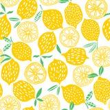 För modellvektor för citron sömlös illustration royaltyfri illustrationer