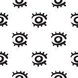 För modellvektor för ögon dragen sömlös hand Royaltyfria Bilder