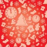 För modellvektor för jul sömlös bakgrund Arkivbild