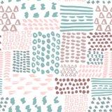 För modellvektor för klotter sömlös geometrisk illustration Royaltyfria Bilder
