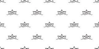 För modellvektor för fartyg sömlös illustrat för tapet för repetition för bakgrund för tegelplatta för roder för ankare för yacht royaltyfri illustrationer