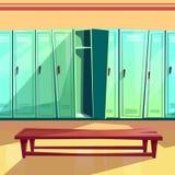 För modellvektor för omklädningsrum med låsbara skåp sömlös illustration stock illustrationer