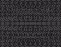 För modellvektor för thailändsk tappning sömlös bakgrund för abstrakt begrepp, svart Royaltyfria Bilder