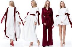 För modemodell för collage sexig nätt stil fo för kläder för kvinna för blont hår fotografering för bildbyråer