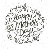 För moder` s för tappning kort för hälsning för lycklig dag dekorativt Royaltyfri Fotografi