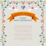 För moder` s för tappning lycklig bakgrund för dag Royaltyfri Fotografi