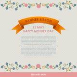 För moder` s för tappning lycklig bakgrund för dag Lyckliga kort för moderdag sänker Arkivbilder