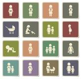 För moder symboler enkelt Arkivbilder
