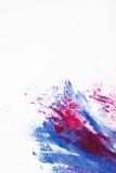 För modern konst, röd och blå färgblandning för Abstractionism, Arkivbilder