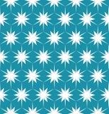 För modern sömlös färgrik blom- blått geometrimodell för vektor, färgabstrakt begrepp Royaltyfria Bilder