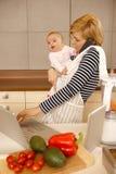 För moderskap karriär kontra Royaltyfri Foto