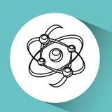 För molekylstruktur för hand grafisk hållande kemikalie vektor illustrationer